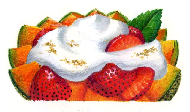 This is my marker sketch for the sour cream. I did not have any copies of final art.