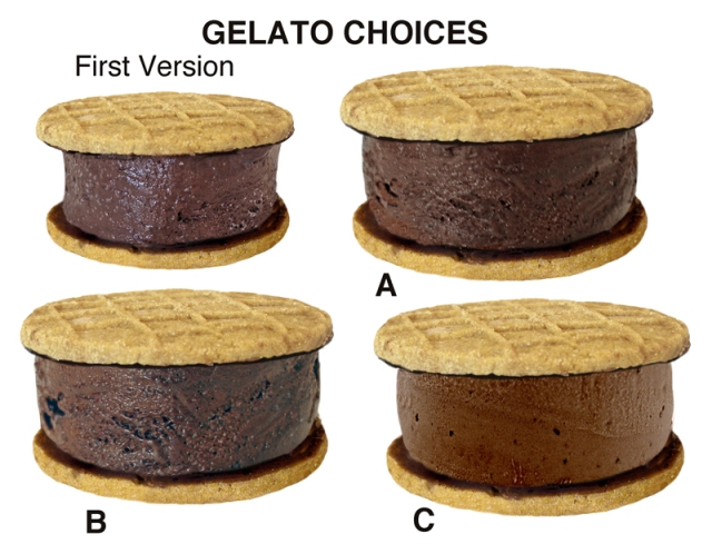 Gelato choices