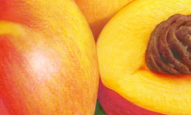 Nectarine close up