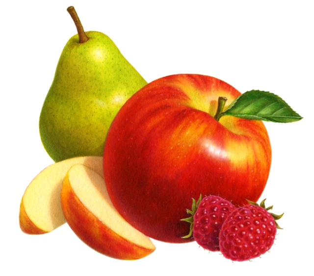 Pear, apple & rasp