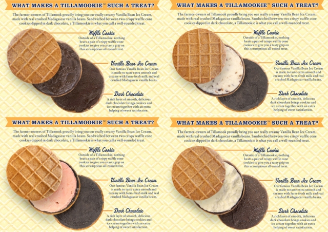 Tillamookie back package angled layouts