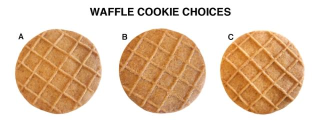 Waffle cookies diagonal