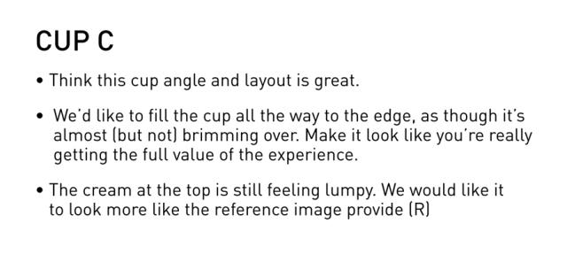 Cup C feedback