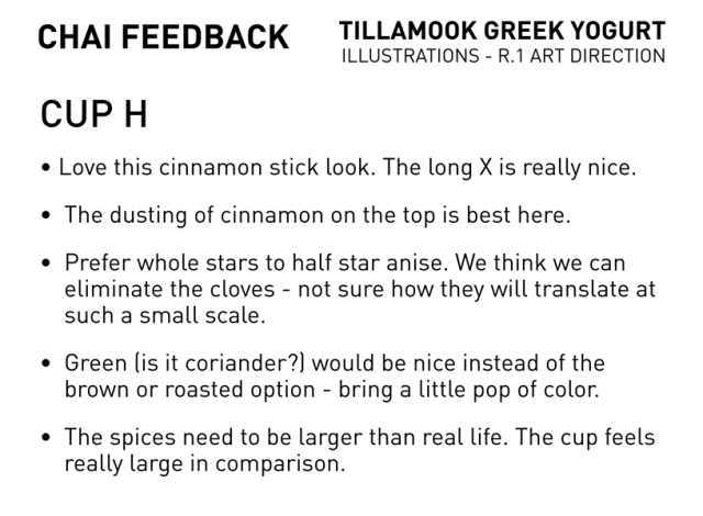 Cup H feedback